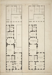 Plan of the parlor story of the Earl of Derby's House in Grosvenor Square